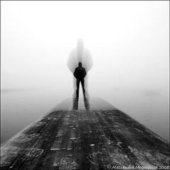 man-in-fog